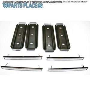 1967 67 Chevelle Seat Cover Emblems W Backing Plates Set Of Four 8 Pc
