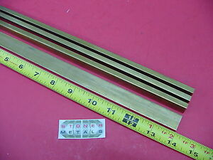 4 Pieces 1 4 X 3 4 C360 Brass Flat Bar 14 Long Solid 25 x 75 Mill Stock H02