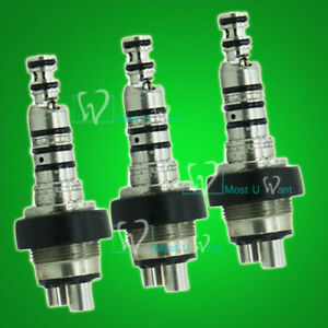 3x Kavo Style Dental Lab Pro Standard Handpiece Quick Coupler 360 Swivel 4hole