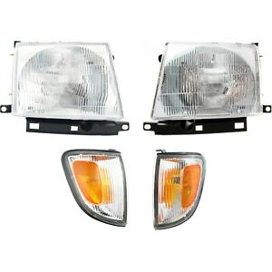 Headlight Kit For 97 2000 Toyota Tacoma Left And Right Rwd 2wd 4pc