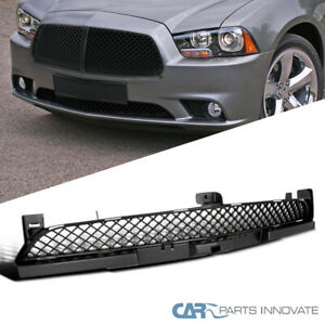 2011 2014 Dodge Charger Mesh Honeycomb Black Lower Front Hood Grill Grille