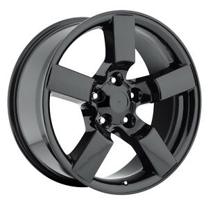 4 20 Gloss Black Lightning Style Wheels Fits 1967 To 1996 Ford F150 Rims Set