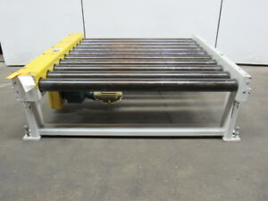 1hp Modular Section Power Live Roller Pallet Conveyor 52 wx60 lx20 h 29fpm 460v