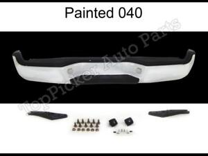 Painted 040 Super White Rear Step Bumper Full Assy For 2005 2015 Toyota Tacoma