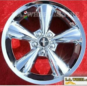 Set Of 4 New Chrome 18 Ford Mustang Oem Wheels Rims Explorer Shelby 3648