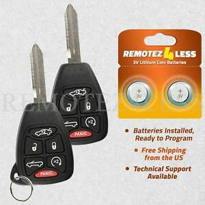 2 For 2007 2008 2009 2010 Chrysler Sebring Keyless Entry Remote Car Key Fob