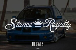 Jdm Sticker Decal Stance Royalty Banner Car Crew Stancenation Static Air Ride