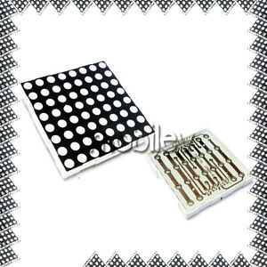 50 Led Dot Matrix Display 8x8 5mm Red Common Anode 16 P
