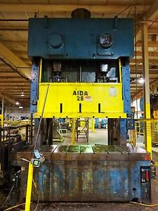 275 Ton Aida Double Crank Gap Frame Press Stamping Planet Machinery 5180