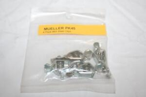 Mueller 45 4 Pcs Alligator Pee wee Testing Clip Steel 5 amp Made In Usa
