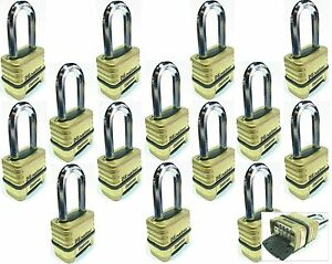 Combination Lock Set Master 1175lh lot 14 Resettable Long Brass Sealed Carbide