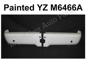 Painted White Rear Bumper End Set For 2009 2014 Ford F150 Styleside With Hole