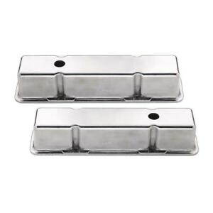 Mr Gasket Engine Valve Cover Set 6854 Tall Polished Aluminum For Chevy Sbc