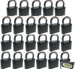 Combination Lock Set By Master 178dblk lot 23 Resettable Brass Insert Black