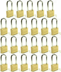 Lock Brass Master Combination 175lh lot Of 23 Long Shackle Resettable Secure