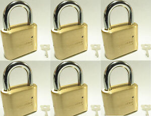 Lock Brass Master Combination 175 lot 6 4 Dial Resettable High Security