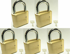 Lock Brass Master Combination 175 lot 5 4 Dial Resettable High Security