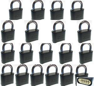 Combination Lock Set By Master 178dblk lot 19 Resettable Brass Insert Black