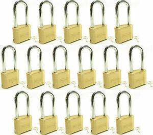 Lock Brass Master Combination 175lh lot Of 16 Long Shackle Resettable Secure