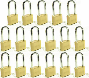 Lock Brass Master Combination 175lh lot Of 17 Long Shackle Resettable Secure