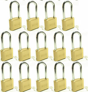 Lock Brass Master Combination 175lh lot Of 14 Long Shackle Resettable Secure