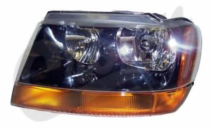 Left Headlight Jeep 1999 To 2004 Wj Grand Cherokee Crown 55155129ab