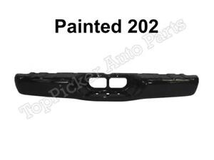Painted 202 Black Rear Bumper Face Bar For 2000 2006 Toyota Tundra Std Bed