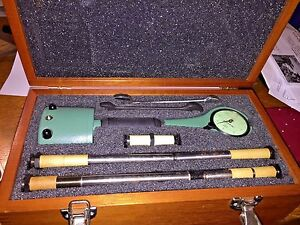 Federal Dial Bore Gage In Wooden Case 1201p 4 4 10 0001 Indicator