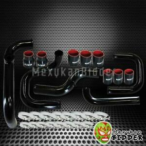 Fmic Black Intercooler Piping Couplers Ssqv Bov Flange Kit For Acura Integra