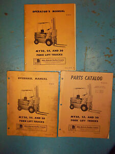 White Fork Lift Truck Part repair service maintenance Manual my20 my25 my30 lot