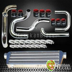 Chrome Intercooler Piping S rs Bov Flange Black Couplers Kit For Honda Civic