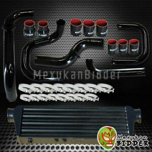 Black Intercooler Piping S rs Bov Flange Black Couplers Kit For Honda Civic