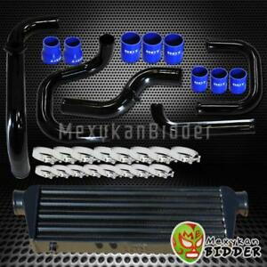 Black Intercooler Piping S rs Bov Flange Blue Couplers Kit For Honda Civic