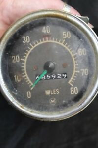Vintage Ac Universal 0 80 Mph Car Truck Speedometer Hot Rod Rat Rod 376b