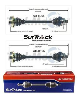 For Audi 80 90 Fwd 88 92 Pair Of Front Left Right Cv Axle Shafts Surtrack Set
