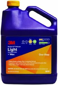 3m 36111 Perfect it Gelcoat Light Cutting Polish Wax 1 Gal