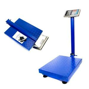 660lbs 300kg 100g Digital Shipping Postal Scale Floor Steel Platform Weight New