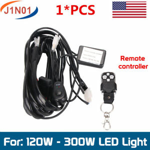 Remote Control Wiring Harness Kit Strobe Switch Relay Led Light Bar 120w 300w J1
