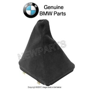 For Bmw E36 E46 Manual Transmission Black Alcantara Shift Lever Boot Genuine