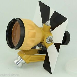 Yellow Single Prism For Tocon Nikon Pentax Total Station