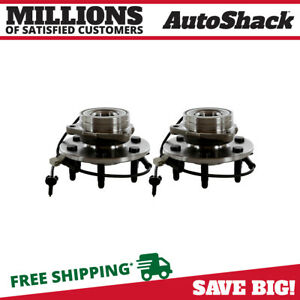 2 Front Wheel Hubs Bearings Pair Set W Abs Fits Chevy Gmc Truck 4x4 4wd Awd