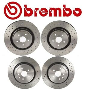 For Lexus Is F 08 14 5 0l Front And Rear Disc Brake Rotors Drilled Kit Brembo