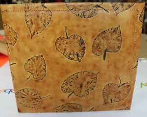 Exotic Aspen Leaf Embossed Cowhide Leather 3 Ring Binder