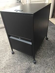 Safco black Metal Mobile Cart File Rolling Cabinet