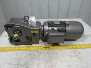 Nord Unicase 5hp 29 20 1 Ratio Right Angle Helical Bevel Gearbox W motor