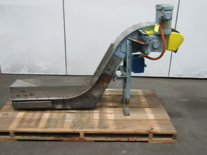 Livonia Magnetics B 11 Magnetic Incline Conveyor 9 w 24 l Intake 28 Discharge