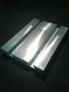 Sacrificial Aluminum T slot Plate T slotted Fixture Table 6 X 8 X 1
