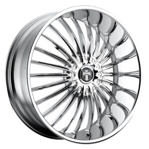 24x9 5 Dub Suave S140 5x115 5x4 75 Et15 Chrome Wheels Set Of 4