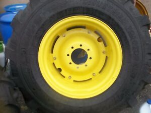 Two New 19 5lx24 R4 T l 12 Ply Kubota John Deere Farm Tractor Tires W wheels