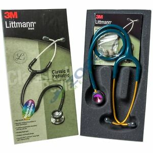 Littmann Classic Ii Pediatric Stethoscope 28 Rainbow Chestpiece Caribean Blue